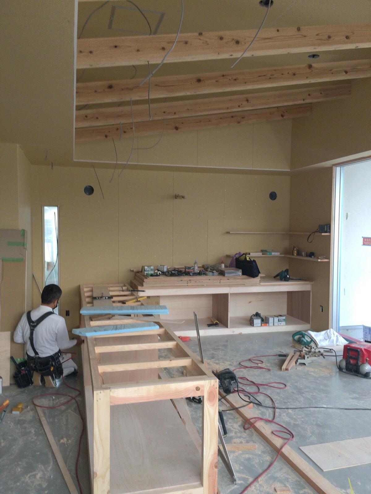 近江屋様 工程も終盤になってきました。